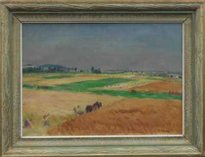 Antonín Majer - Koňský povoz v polích