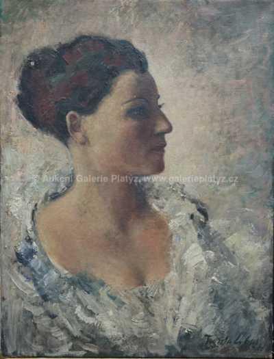 František Líbal - Potrét paní L.