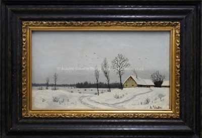 Albín Lhota - Chaloupka v zimě