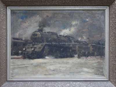 Vilém  Kreibich - U lokomotivy