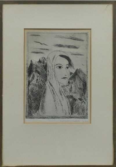Kamil Lhoták - Žena v horách