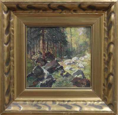 Gustav  Porš - Potůček v lese