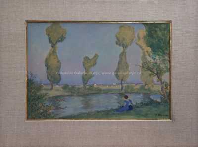 Jan Honsa - Odpočinek u rybníka