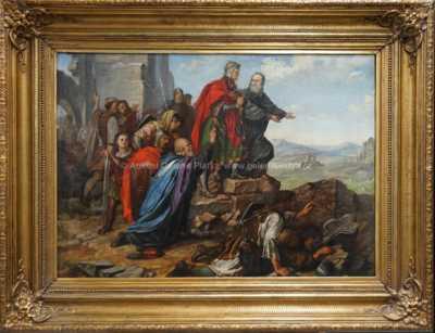 Antonín  Lhota - Břetislav na ruinách Velehradu