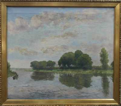 Josef Holub - Rybář na řece