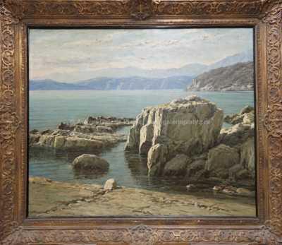 Josef Písecký (Liška) - Zátoka na Jadranu
