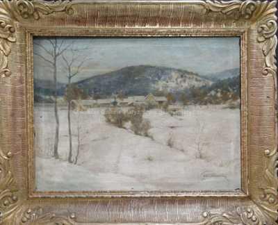 Bedřich Peroutka - Chaloupky v zimě