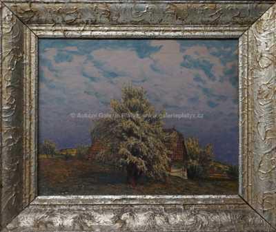 Jan Honsa - Roubenka pod rozkvetlým stromem