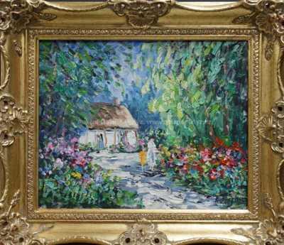 Autor neurčen - V rozkvetlé zahradě