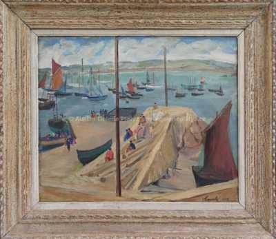 Henri Bourly - Přístav Douarnenez v Bretani