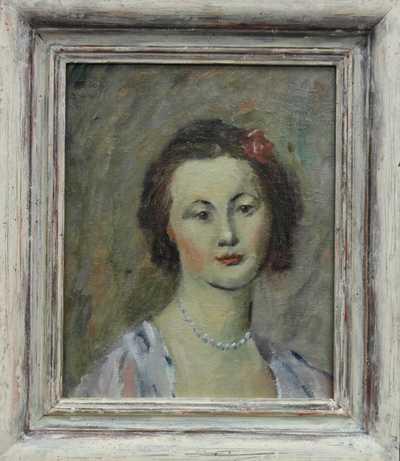 Karel Svolinský - Dívka s růží