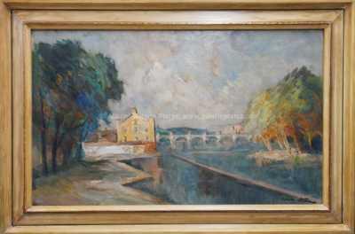 Karel Hodr - Kampa s Karlovým mostem