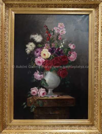Autor neurčen - Květinové zátiší
