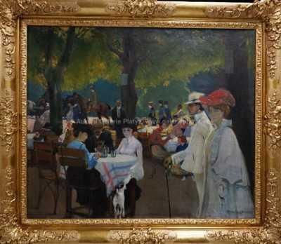 František Xaver Naske - Zahradní restaurace