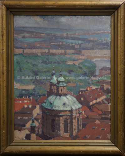Vilém  Kreibich - Pohled na Prahu