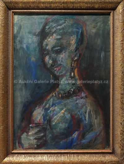 Karel Teissig - Portrét dívky