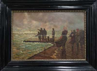 Autor neurčen - Rybáři na pobřeží