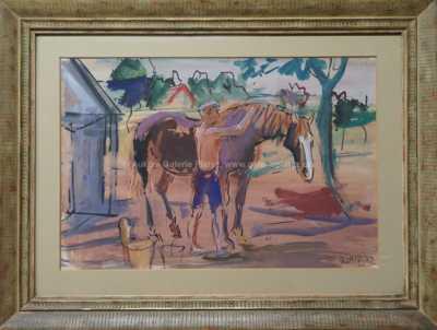Vojtěch  Sedláček - S koněm