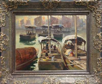 Otakar Číla - Přístav v Šanghaji