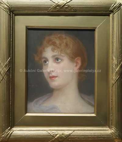 Maxmilian Pirner - Portrét dívky