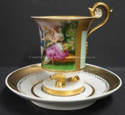 Porcelán - Šálek s podšálkem