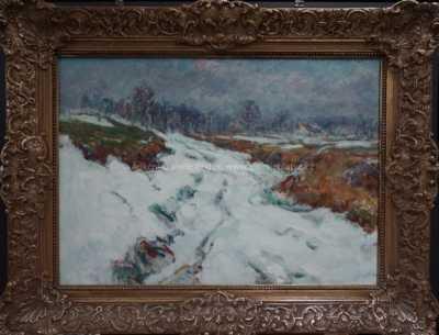 František Škrabánek - Úvoz pod sněhem