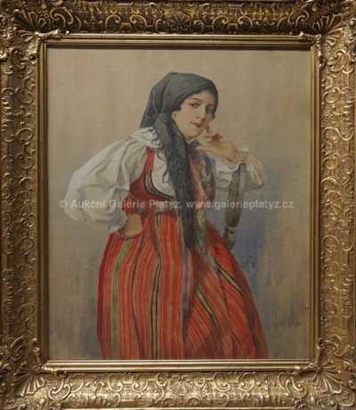 Karel Šimůnek - Krojovaná dívka