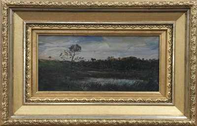Antonín Chittussi - Rybník se stromem navečer