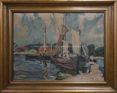 Georg Lehman-Fahrwasser - Rybáři u mola