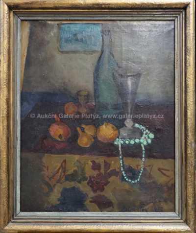 Andrej Bělocvětov - Zátiší s náhrdelníkem