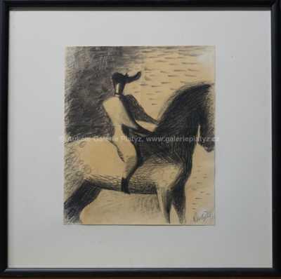 František  Tichý - Jezdec na koni