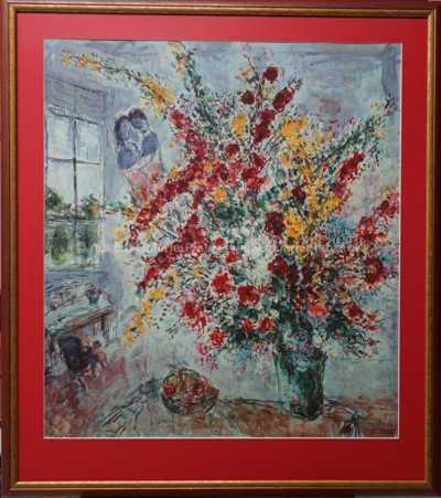 Mark Chagall - Bouguet de genéts et pomes
