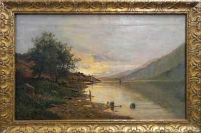 Fritz Chwala - Červánky nad jezerem