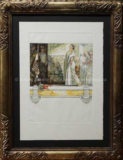 František Kupka - Příchod Casandry do paláce Agamemnona