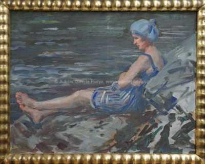 Nesignováno - Dívka u vody