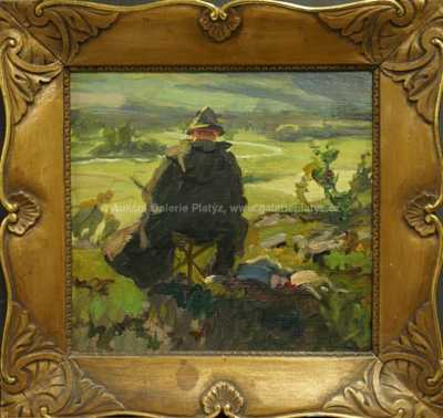 Josef Štolovský - O. Bubeníček při práci ve Volyni