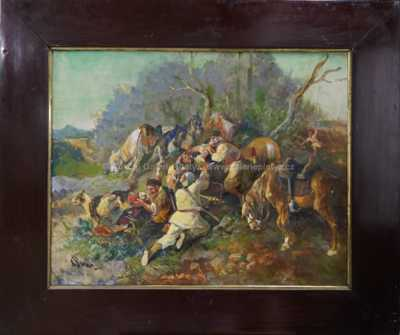 Joseph von Berres - Dělení kořisti