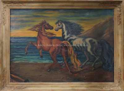 Koně na pobřeží