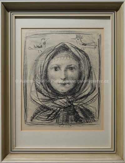 Karel Svolinský - Dívka v šátku