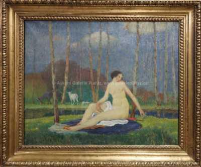 Autor neurčen - Dívka u vody