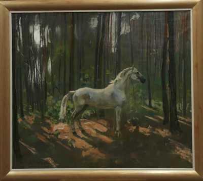 Alex Adolf Jelínek - Kůň v lese