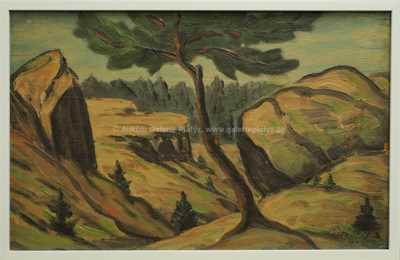František Drtikol - Strom na skalách
