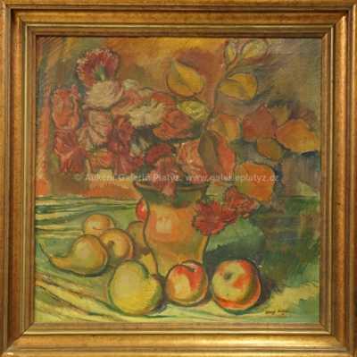 Josef  Kitzler - Zátiší s ovocem