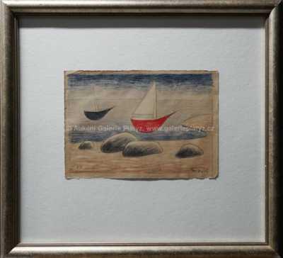 Jan  Zrzavý - Dvě loďky a čtyři kameny