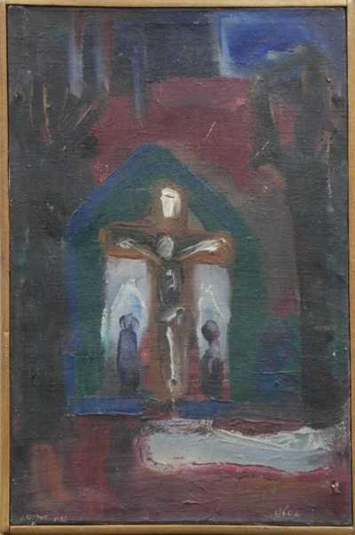 Josef Jíra - Před kostelem