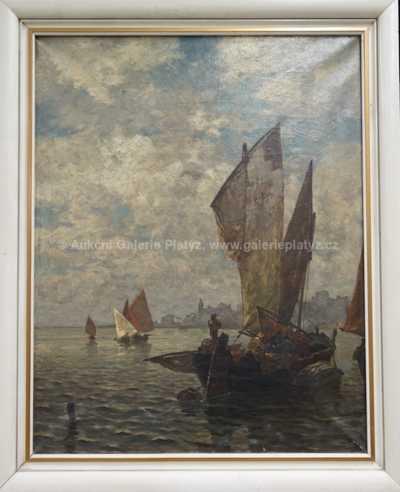 Ludwig Dill - Rybáři v přístavu