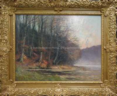 Autor neurčen - Stromy u rybníka