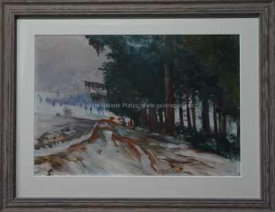 František Kaván - Zima u lesa