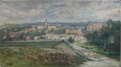 Josef Krejsa - Pohled na Jindřichův Hradec