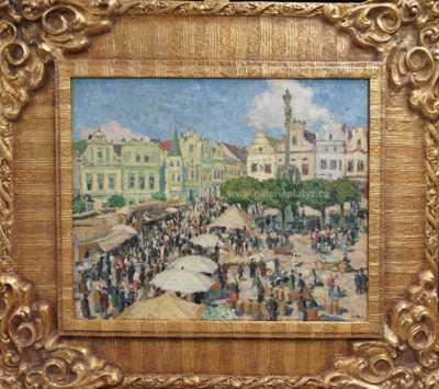 Autor neurčen - Trhy na náměstí